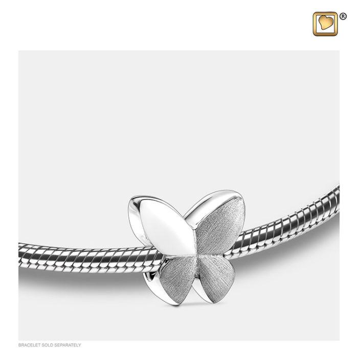 Ascheperle ´LoveUrns´ Zweifarbig Silber Ascheperlen