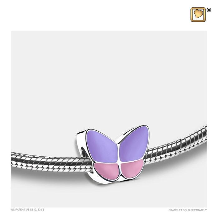 Ascheperle ´LoveUrns´ Schmetterling Lavendel Ascheperlen