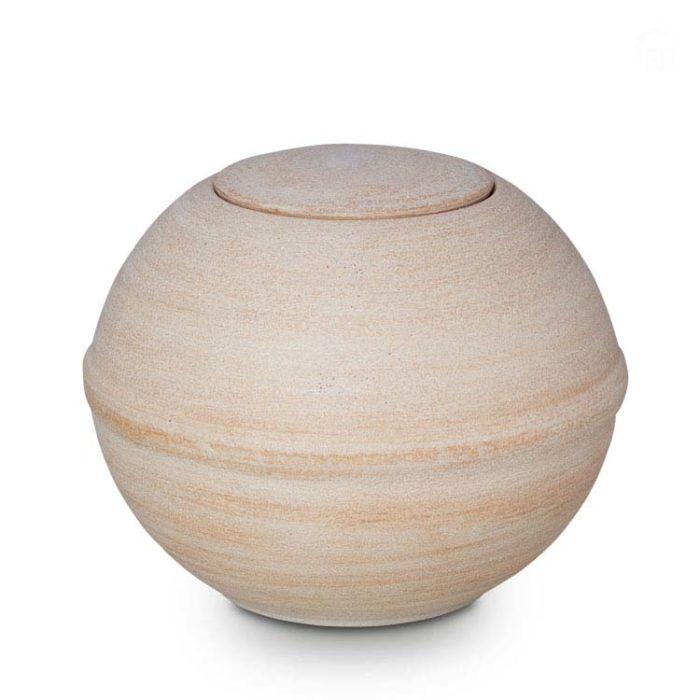 Biologische Eco Urne Beige-Weiß (3,4 Liter) Bio Urnen