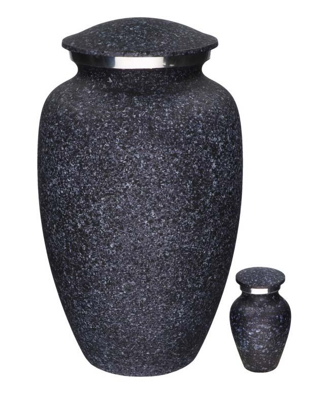 Eleganz Urnen Vorteilset Beflecktes Schwarzes Marmor-Look (3,6 Liter) Günstige Urnen