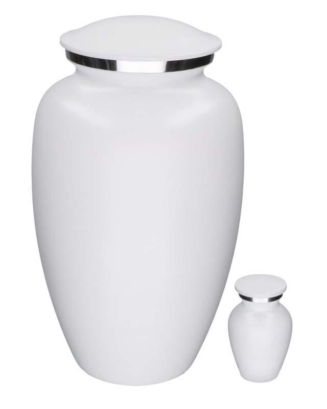 Eleganz Urnen Vorteilset MattWeiß Marmor-Look (3,6 Liter) Günstige Urnen