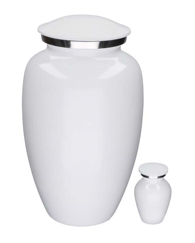 Eleganz Urnen Vorteilset Glänzendes Weiß Marmor-Look (3,6 Liter) Günstige Urnen