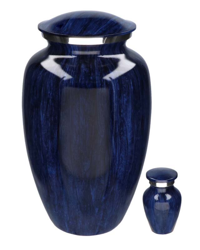 Eleganz Urnen Vorteilset Dunkelblaue Streifen (3,6 Liter) Günstige Urnen