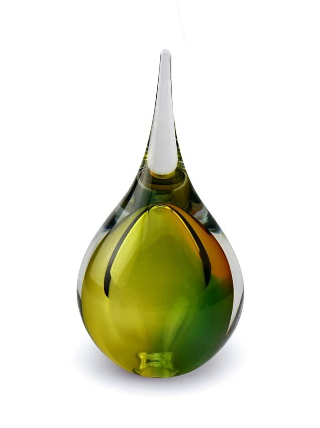 Kristallgläser 3D Träne Tierurne Gold-Grün (0,18 Liter) Träne Urnen