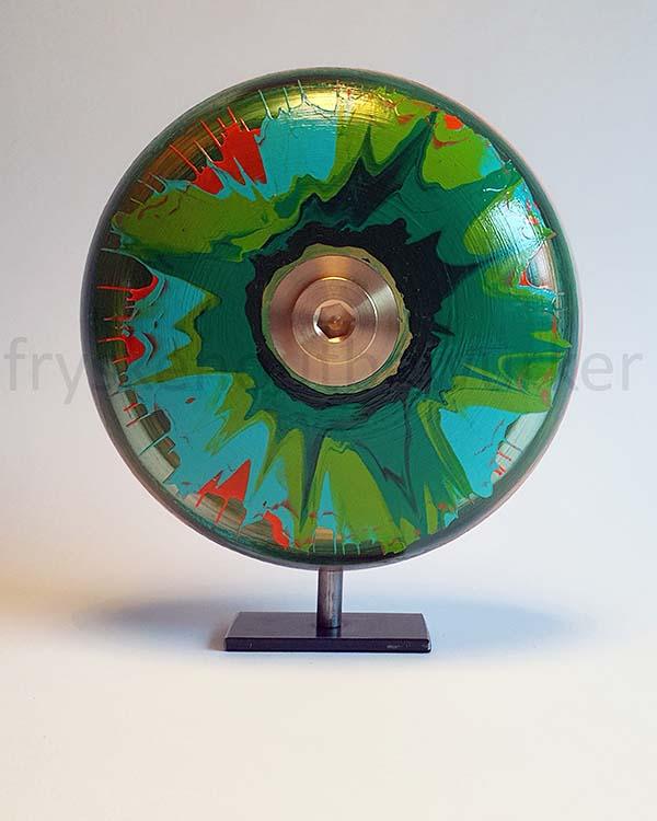 Kleine Green Eye Design Urne auf Sockel (0,5 Liter) Holz Design Urnen