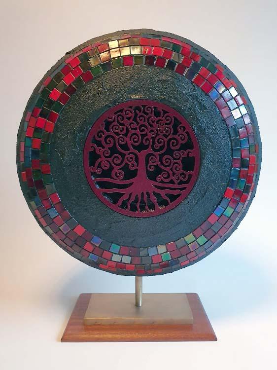 Extra Große Indischer Design Urne auf Sockel (6,0 Liter) Holz Design Urnen