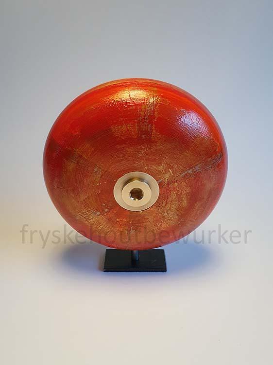 Kleine Kobus Red Design Urne auf Sockel (0,5 Liter) Holz Design Urnen