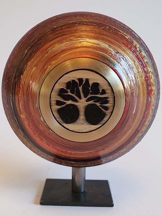 Mini Design Urne MDU2 auf Sockel (0,05 Liter) Holz Design Urnen