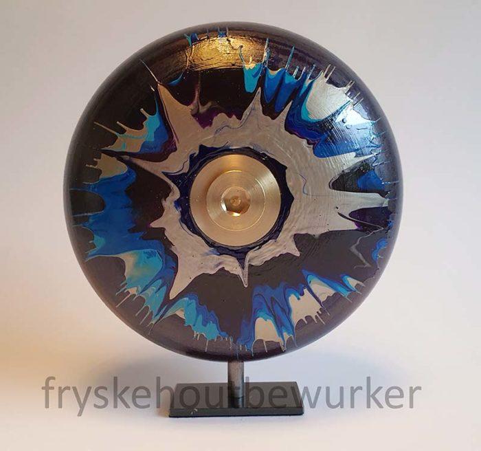 Kleine Purple Eye Design Urne auf Sockel (0,5 Liter) Holz Design Urnen