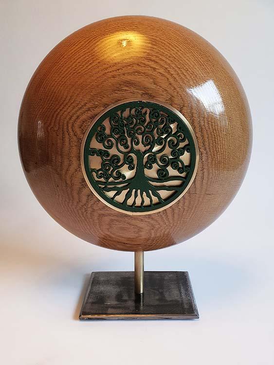 Kleine Regenbogen Design Urne auf Sockel (1,5 Liter) Holz Design Urnen
