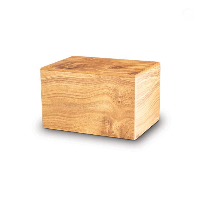 Große MDF Box Urne auf Sockel Kiefer (3,5 Liter) Holzurnen