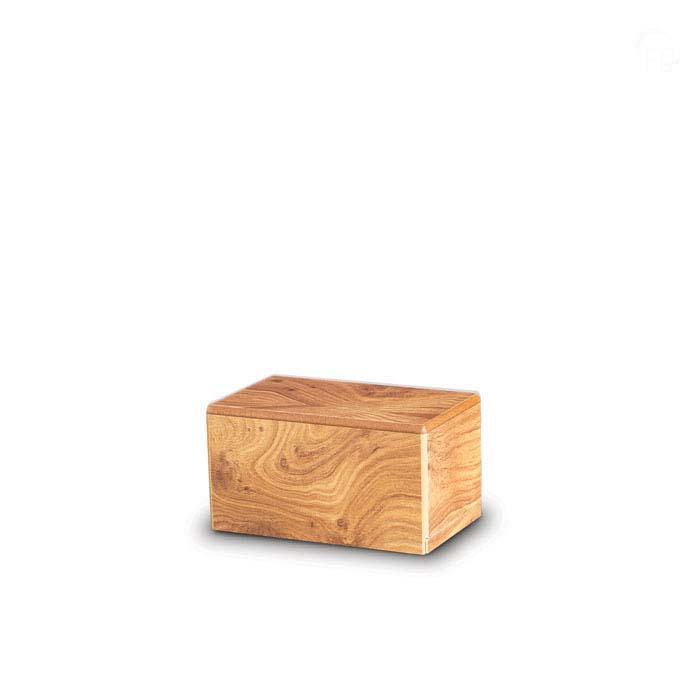 Mini MDF Box Tierurne auf Sockel Kiefer (0,4 Liter) Hölzerne Tierurnen