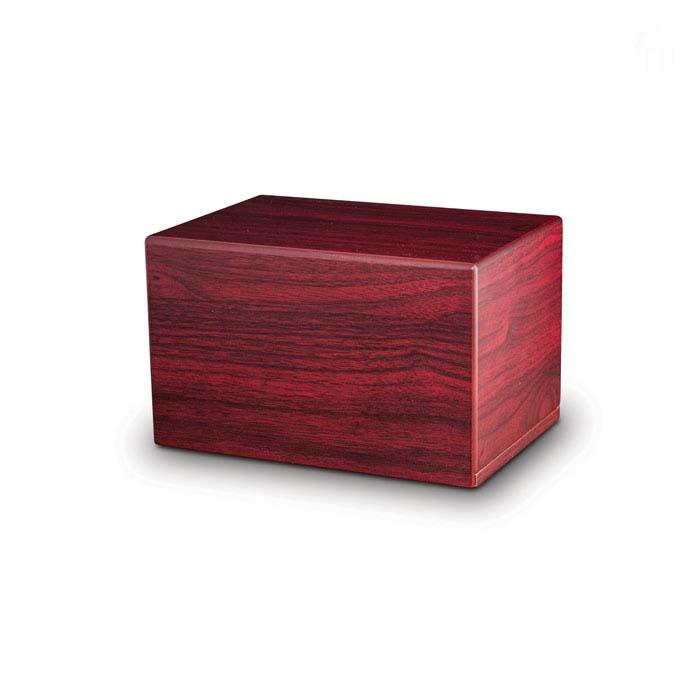 Große MDF Box Urne auf Sockel Mahoni (3,5 Liter) Holzurnen