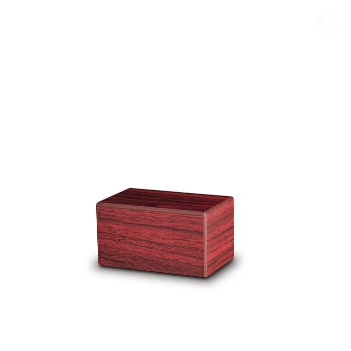 Mini MDF Box Tierurne auf Sockel Mahoni (0,4 Liter) Hölzerne Tierurnen