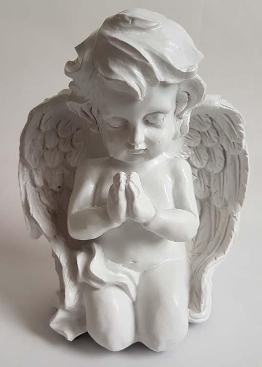 Engel Urne Betender Cherubim, Weiß (0,3 Liter) Engel Urnen