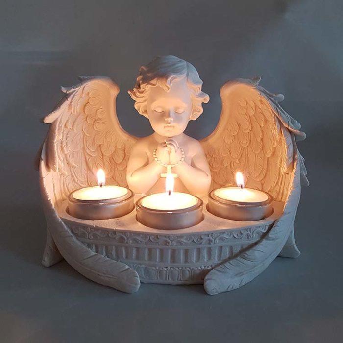 Cherub Kerzenhalter Urne Biddende (0,15 Liter) Engel Urnen