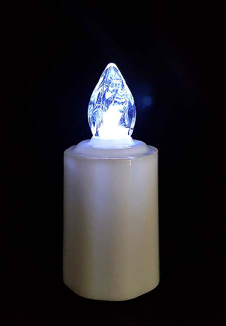 3 Wasserdichte LED-Kerzen, Weiße Flamme LED-Kerzen