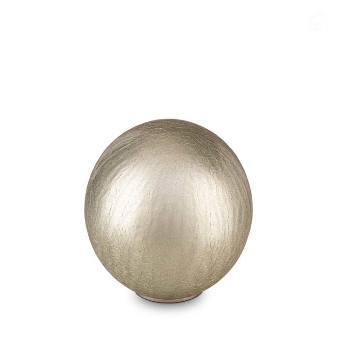 Große Globus Tierurne Silber Craquele (3,5 Liter) Tierurnen aus Glas