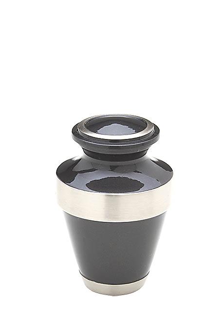 Mini Tierurne Shiny Schwarz (0,075 Liter) Mikro-Tierurnen aus Messing