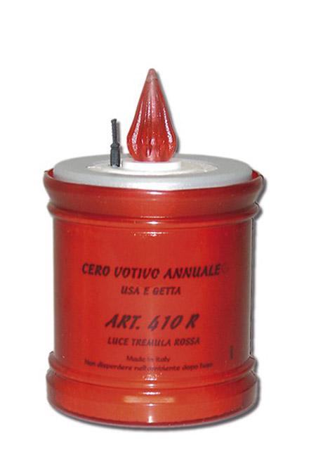 Mittelgroße LED Jahreskerze Rot LED-Kerzen
