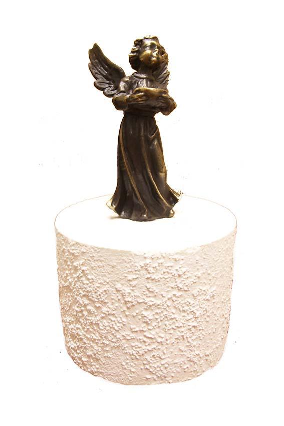 Asche Figur Kleiner Engel (0,25 Liter) Bronze Urnen
