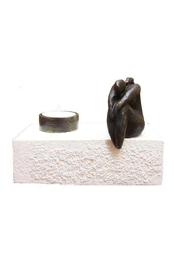 Asche Figur Für immer im Kopf – Frau (0,25 Liter) Bronze Urnen