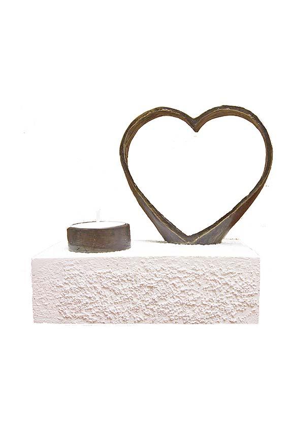 Asche Figur Ewige Liebe (0,25 Liter) Bronze Urnen