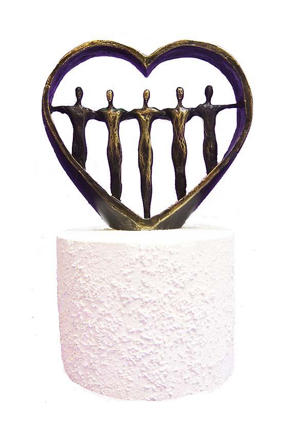 Asche Figur Für immer in Unseren Herzen (0,25 Liter) Bronze Urnen
