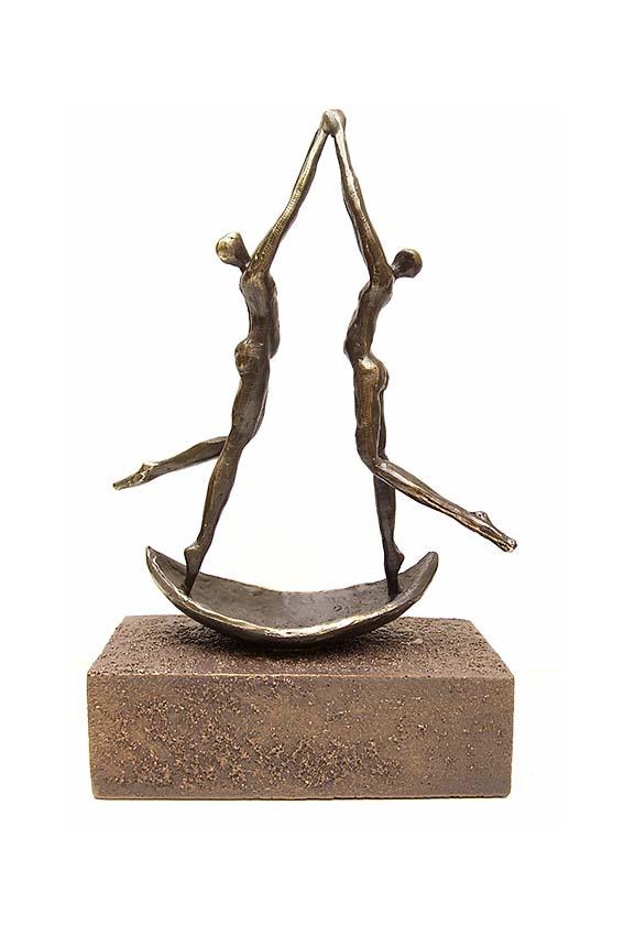 Asche Figur Abschied (0,25 Liter) Bronze Urnen