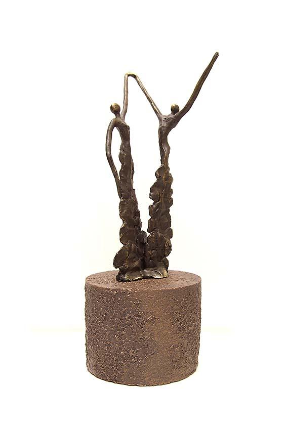 Asche Figur Gib Deine Kraft Weiter (0,25 Liter) Bronze Urnen