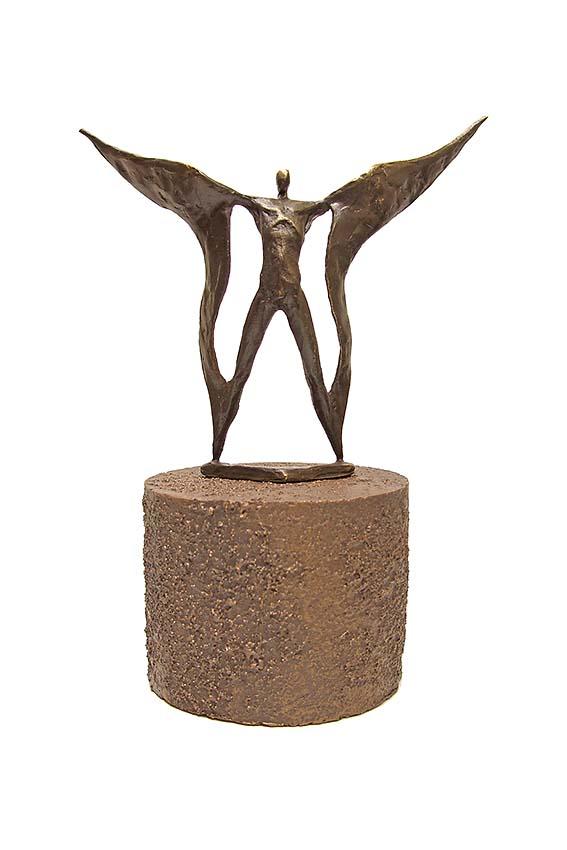 Asche Figur Auf Flügeln Getragen (0,25 Liter) Bronze Urnen