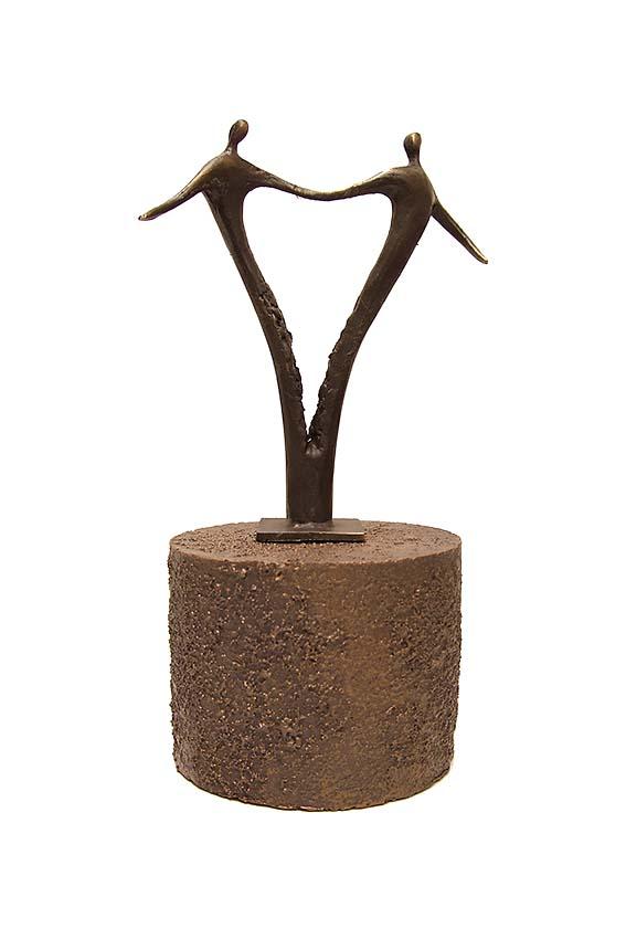Asche Figur Für Immer Zusammen (0,25 Liter) Bronze Urnen