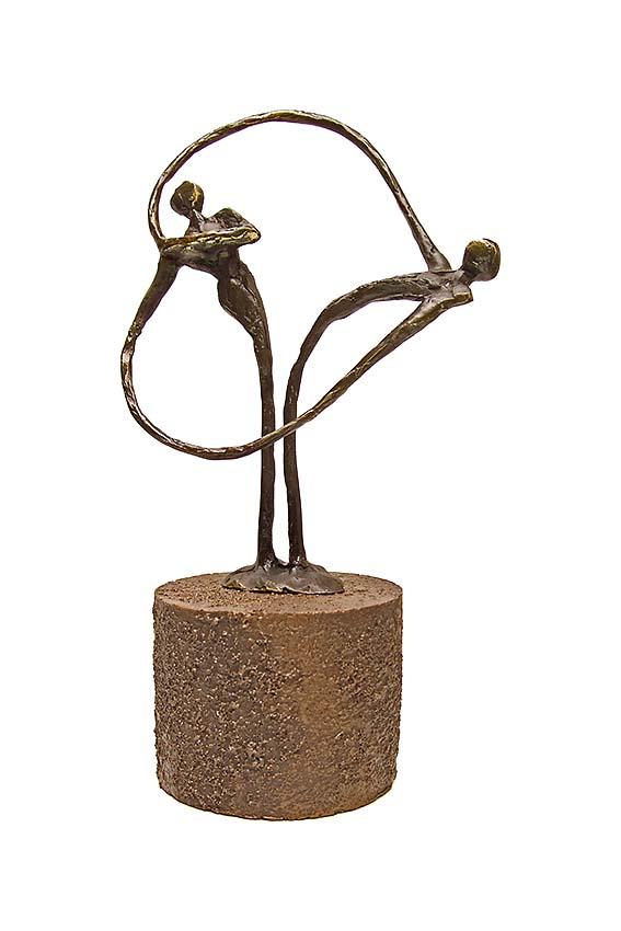 Asche Figur Herz zu Herz (0,25 Liter) Bronze Urnen