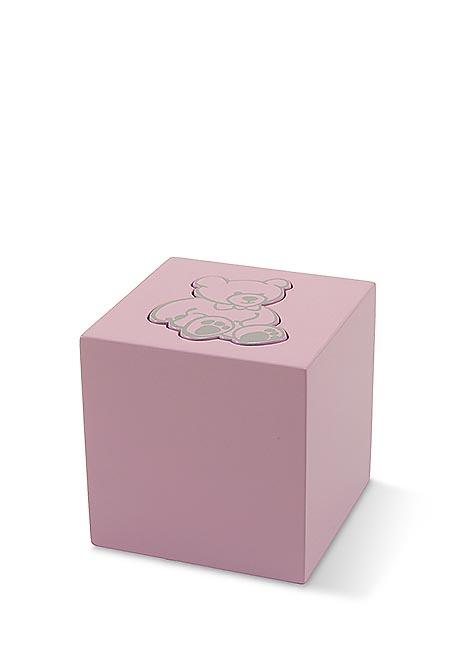 Hölzerne Teddybeer Tierurne Girl (0,3 Liter) Hölzerne Tierurnen