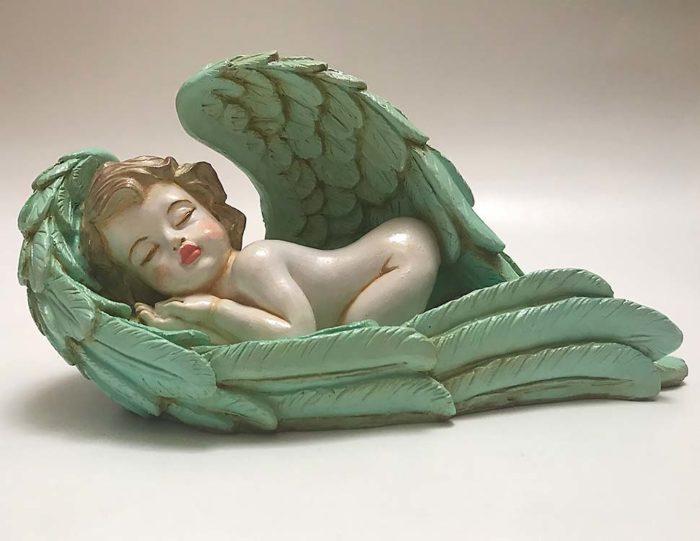 Handgemalte Asche Figur Engel Tierurne Frieden Sichern (1,2 Liter) Tierurnen Engel