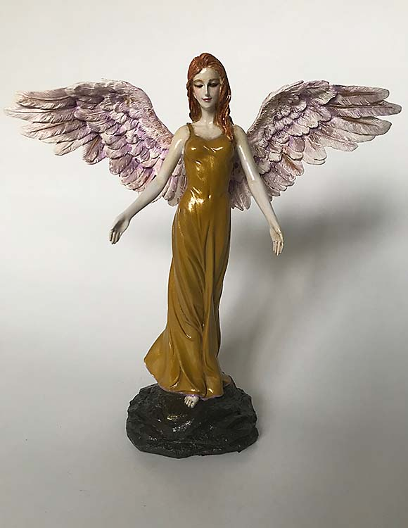 Handgemalte Asche Figur Engel Tierurne auf MDF Sockel (3,5 Liter) Tierurnen Engel