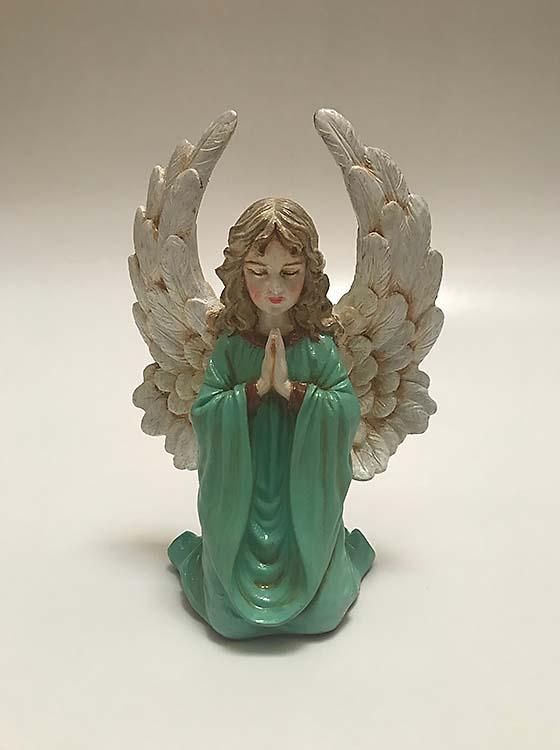 Kniende Engel Asche Figur Handgemalte (0,1 Liter) Tierurnen Engel