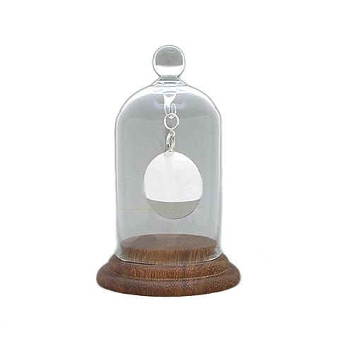 Ascheschmuck aus Glas Kleine Glocke mit Holzsockel Glockenförmiger Anhänger für Asche
