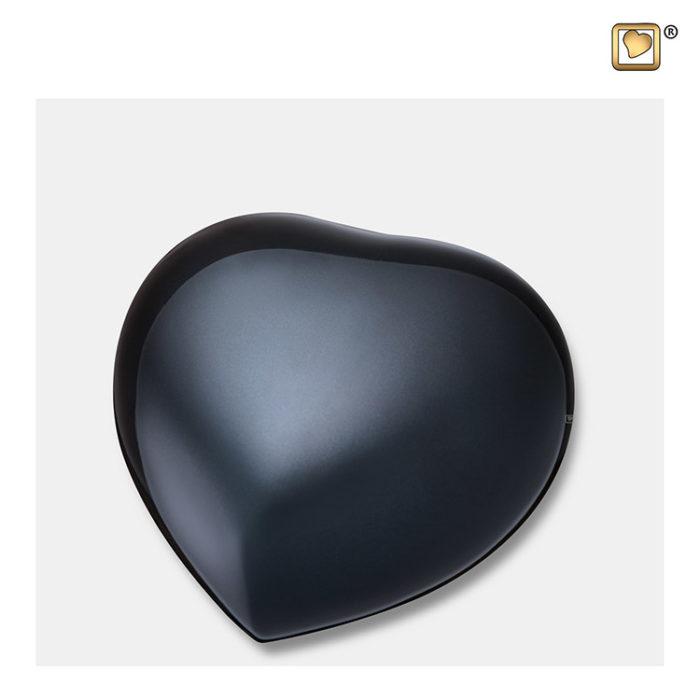 Herz Urne Mittelnachtschwarz Mittelgroße (0,4 Liter) Messing Kleinurne Herz