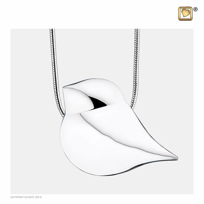 Ascheanhänger ´SoulBird´ Silber, inklusive Design Schlangecolliere Ascheanhänger LoveUrns mit Collier