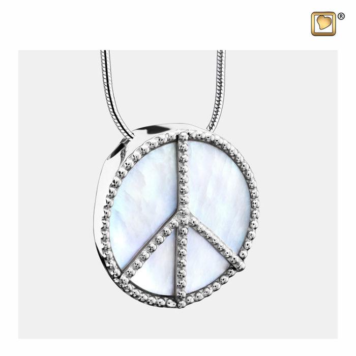 Ascheanhänger ´Mother of Pearl´ Frieden Silber, inklusive Design Colliere Ascheanhänger LoveUrns mit Collier
