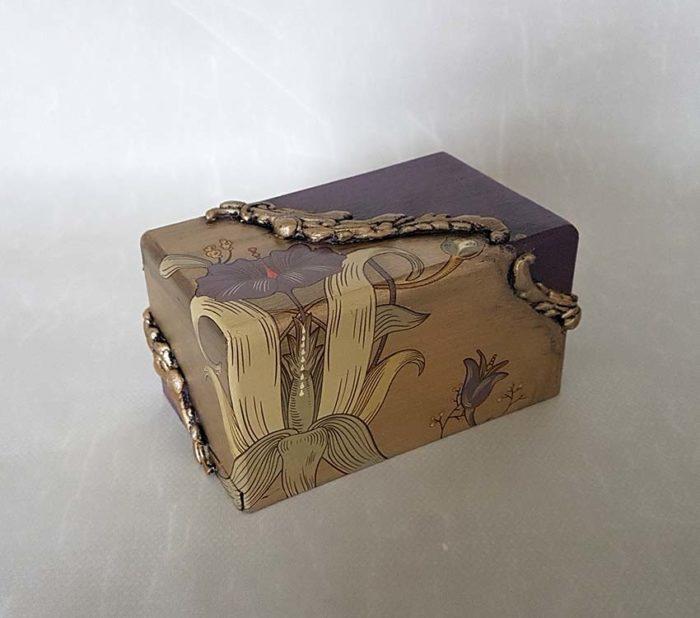 Design Mini Urne Lilie (0,4 Liter) Holz Design Urnen