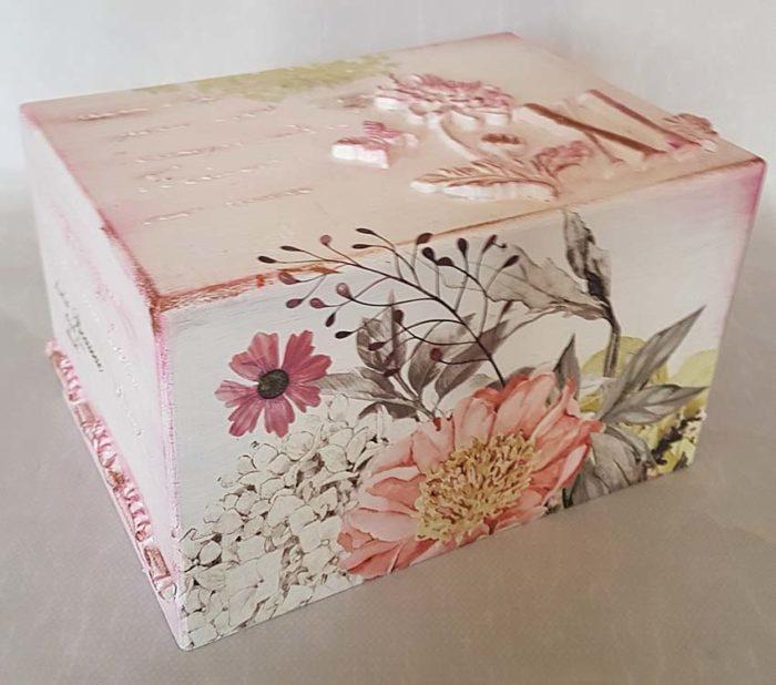 Design Urne Wildblumen, Zahlen und Schmetterlinge (3,5 Liter) Holz Design Urnen