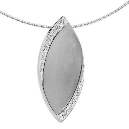 Ascheanhänger Flamme Silber mit Zirkonia Flammenförmiger Ascheschmuck
