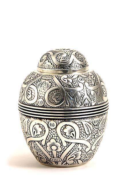 Kleine Antik Silber Tierurne (0,7 Liter) Kleine Urnen für Kleintiere