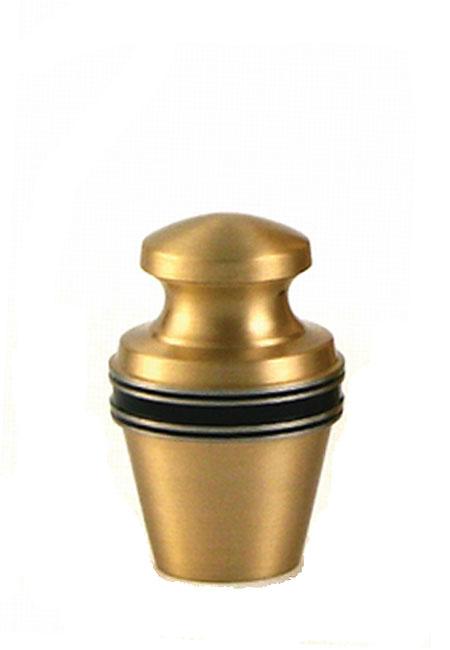 Messing Mini Tierurne Mattgold (0,08 Liter) Mikro-Tierurnen aus Messing