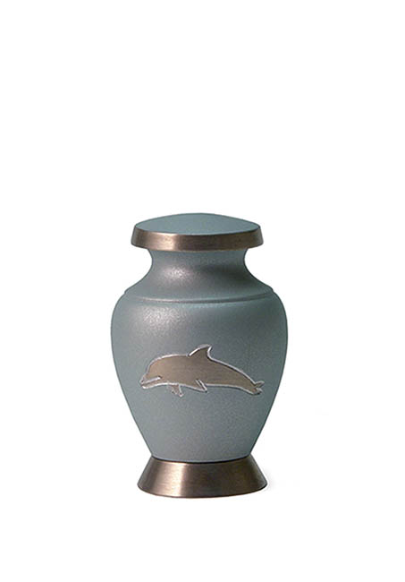 Mini Messing Aria Delfine Tierurne (0,08 Liter) Mikro-Tierurnen aus Messing
