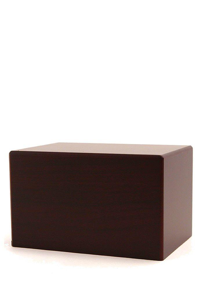 Große Box Tierurne auf Sockel Kirschholz (3,5 Liter) Hölzerne Tierurnen