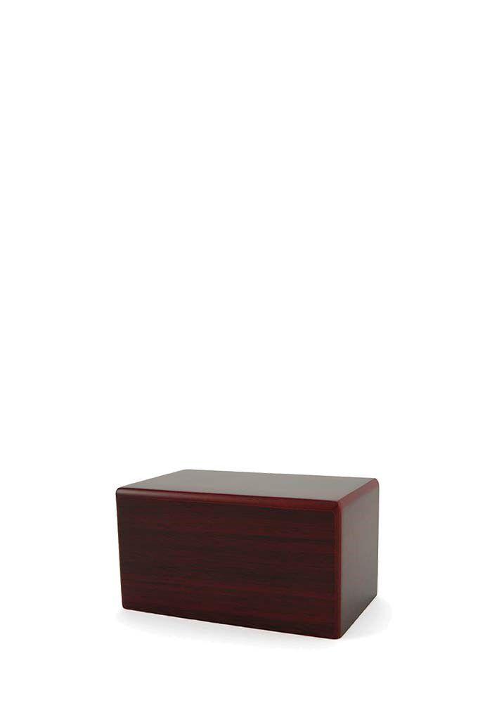Mini Box Tierurne auf Sockel Kirschholz (0,45 Liter) Hölzerne Tierurnen