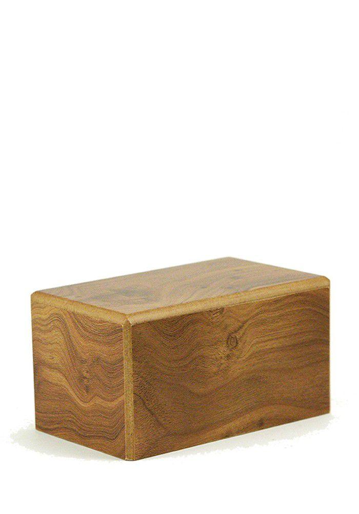Medium Box Tierurne auf Sockel Natürlich (1,5 Liter) Hölzerne Tierurnen